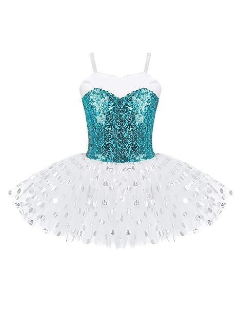 MSemis Vestido Danza con Lentejuelas Disfraz Bailarina para ...