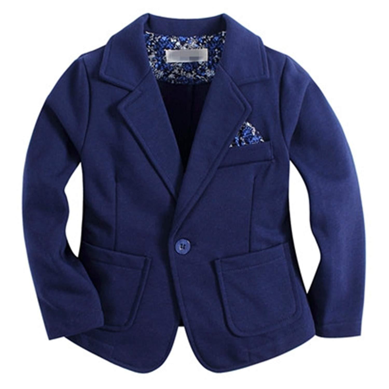 Evan Fordd Knitted Cotton 100/% Toddler BOY Blazer Solid Blue