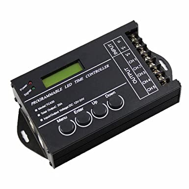 niceeshop(TM) DC12-24V 20A 240W Multifunktion LED Programmierbar Timer Dimmer Controller für RGB RGBW Dual Farbe Oder Single Farbe LED Leuchten, Schwarz