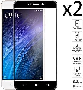 iGlobalmarket [2 Unidades Protector de Pantalla 3D Xiaomi Redmi 4A / 4/4 Pro, Cristal Templado, sin Burbujas, Alta Definicion, 9H Dureza, Resistente a Arañazos
