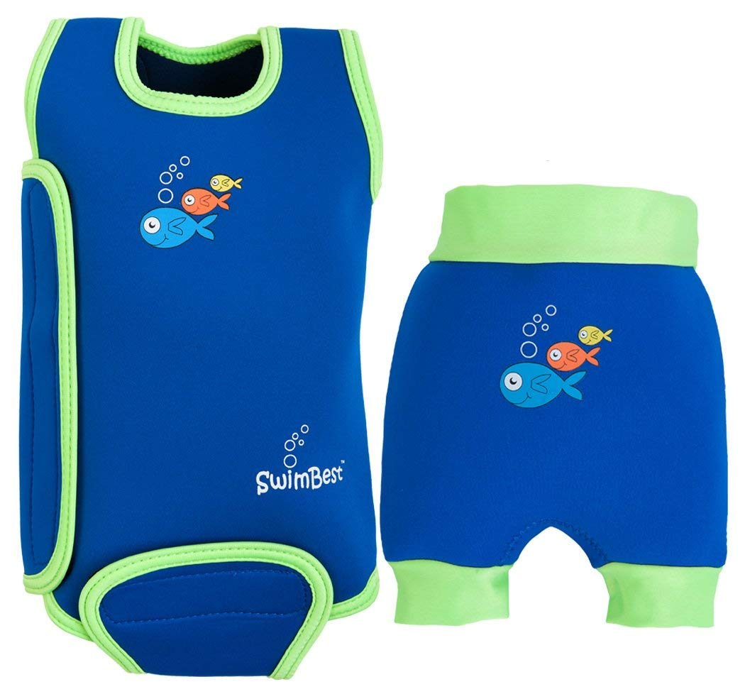 Red Fish-12-24 mths//11-13 kgs SwimBest Baby Wetsuit /& Nappy Set