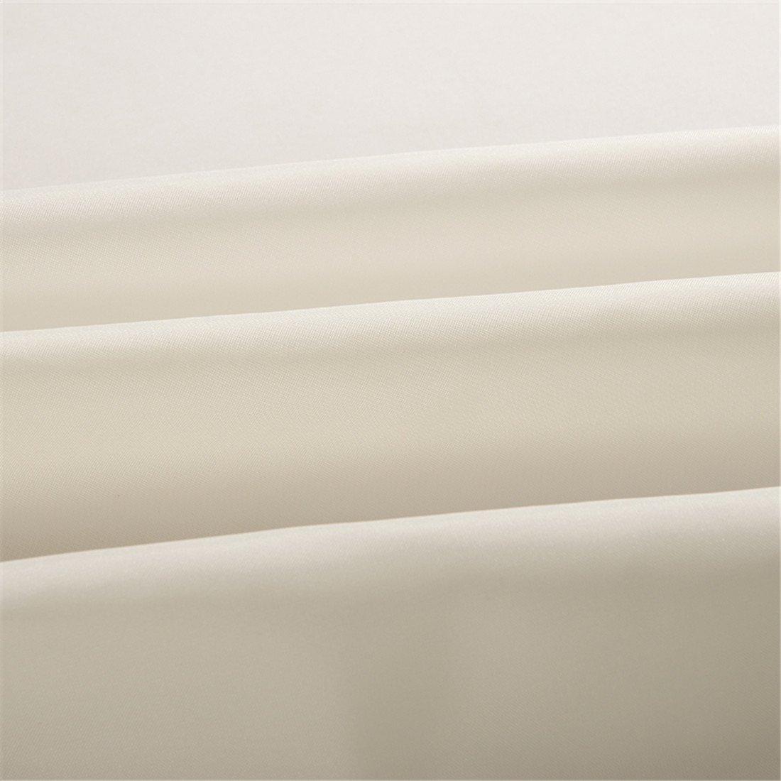 beige LUCKYHOUSEHOME Ganchos para cortina de ducha impermeable poli/éster tejido de poli/éster color beige 100 x 180 cm Wide x Height:39 x 71 inch resistente al moho