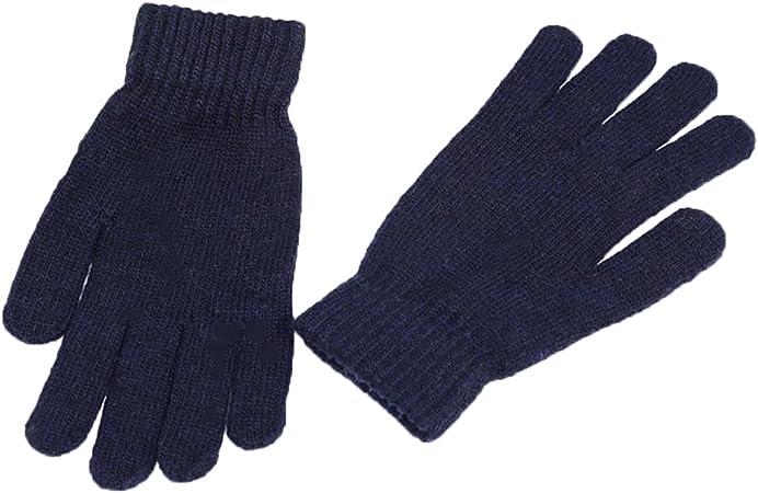 Kentop Guantes de Invierno Mujer Hombre Calientes Guantes de algodón Guantes Guantes de Punto Guantes para Pantalla táctil Touch Gloves Smartphone Guantes, Color Azul Oscuro, tamaño Medium: Amazon.es: Hogar