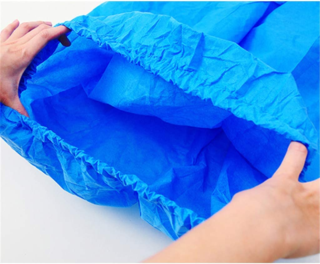 20 Pieces Soft Non-woven Disposable Spa Body Wrap Gown For Salon Beauty Blue