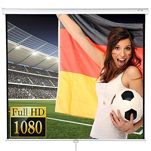 Jago Beamer Leinwand (Größenwahl) Heimkino 244 x 182cm (Diagonale ca. 120 Zoll / 304 cm) HDTV/3D tauglich