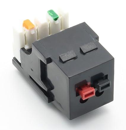 amazon com riteav black keystone 1 x speaker jack with punchdown