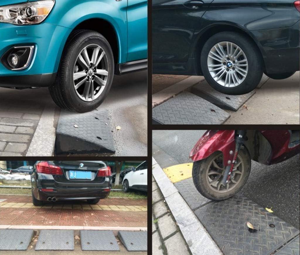 DJSMxpd Heavy Duty Rubber Kerb Curb Ramps Outdoor Channel Edge Slope Car Wheelchair Motorbike Parking Assistance Assist High 19cm
