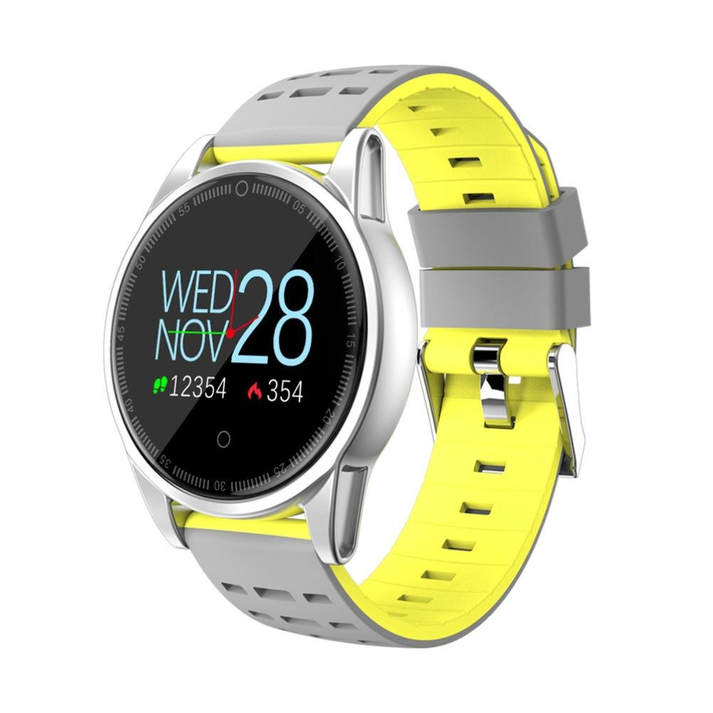 Sandistore Smart Watch for Android/iOS Phones,Round Bluetooth Smartwatch OLED Touchscreen,Metal case,IP67 Water Proof,Several Sports Mode, Blood ...