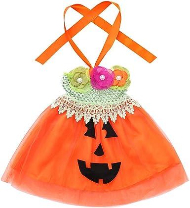 FELZ Vestidos niña, Calabaza de Halloween Vestido de tutú con ...