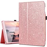 iPad 2017 9.7 Case,iPad Air Case,iPad Air 2 Case,Fingic Thin Sparky Case Smart Folio Case Cover with Auto Sleep/Wake Function Stand PU Leather Cover for ipad Air/Air2/iPad 9.7 2017,Rose Gold