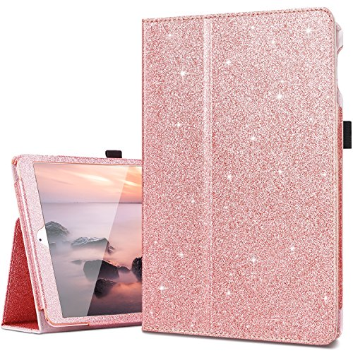 iPad 2017/2018 9.7 Case,iPad Air Case,iPad Air 2 Case,Fingic Thin Sparky Case Smart Folio Case Cover with Auto Sleep/Wake Function Stand PU Leather Cover for ipad Air/Air2/iPad 9.7 2017/2018,Rose - For Cases Ipad Girls
