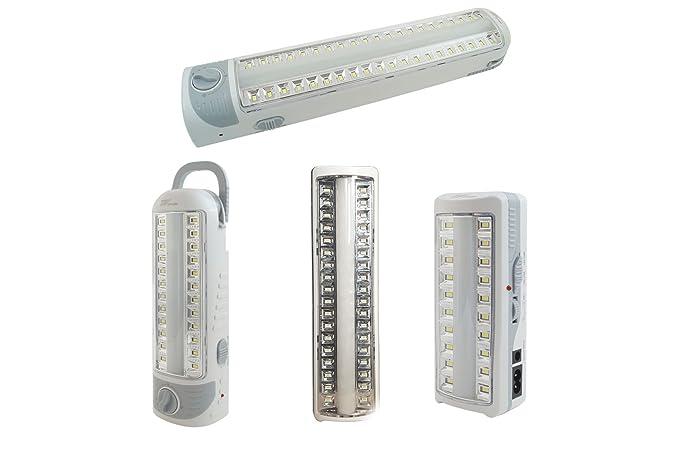 Lampada emergenza ricaricabile dimmerabile portatile luce led smd