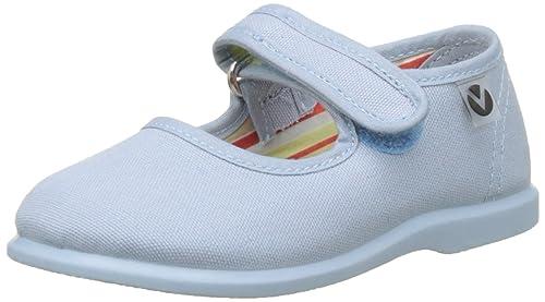 Mercedes Victoire Chaussures De Toile Velcro Enfants Unisexe, Bleu (nuage), 24 Eu