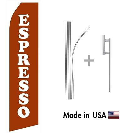 Amazon.com : wall26 Espresso Econo Flag | 16ft Aluminum Advertising Swooper Flag Kit with Hardware : Garden & Outdoor