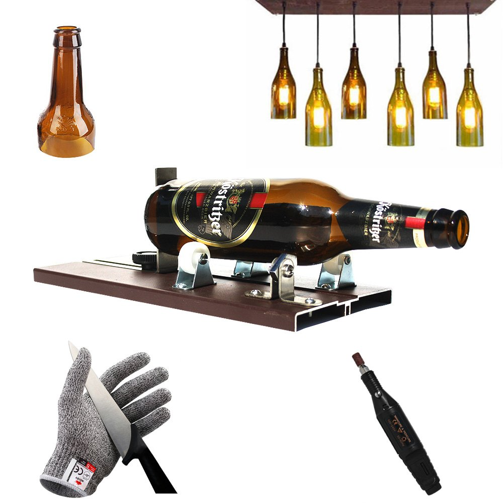 Bottle Cutter Kit | Wine Glass Cutting Tool | DIY Stained Glasses portable Metal Cut Machines | Small Sets for Beer, Champagne, Soda, Whiskey, Vodka, Mason Jars, Liquor, Oval Oil Botellas