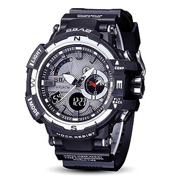 2018 Reloj De Electronico Inteligente Hombres Moda, Con Calendario Luminoso,Prueba De Agua,