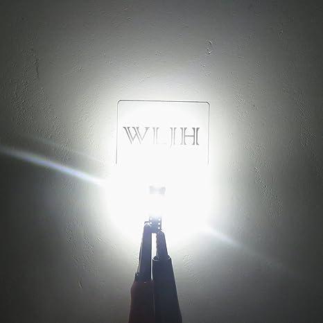 WLJH - 10 bombillas LED PC74 T5 2721 73 37 LED para Angel Eyes, color blanco puro: Amazon.es: Coche y moto