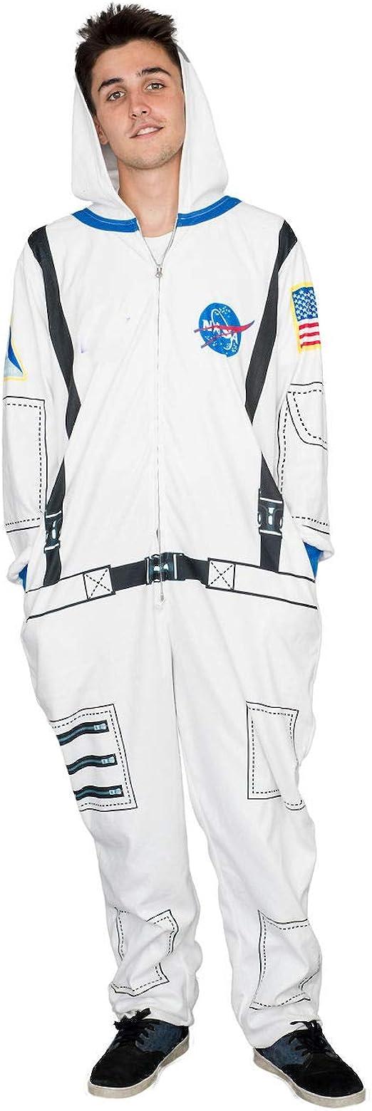 Details about  /ASTRONAUT DELUXE SUIT ADULT NASA ORANGE COSTUME