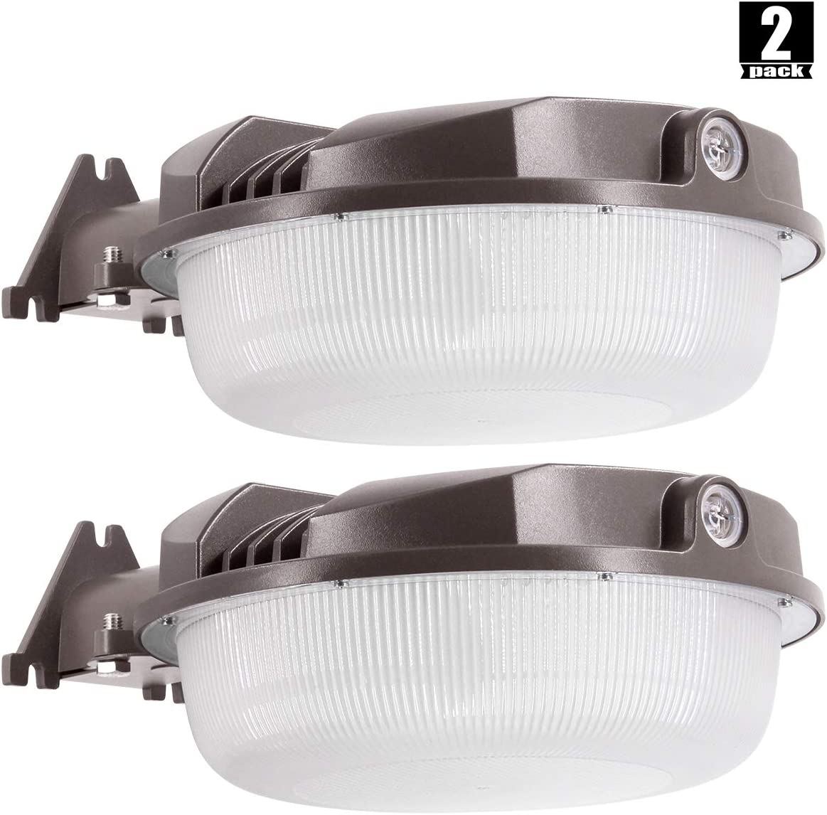 2Pack LED Yard Light 70W Photocell Included ,LED Dusk to Dawn 250-1000W Equiv. ,5000K Daylight Floodlight, Yard Light for Area Lighting, Wet Location Available50K