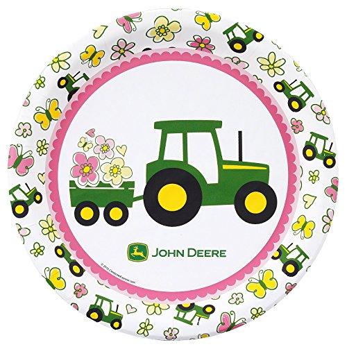 Birthday Express (non-pod Tablewar John Deere Pink Dinner Plates (8) Party Supplies -