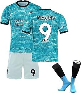 Samantha Liverpool 20-21 Season New Season Football T-Shirt No. 9 Jersey and Football Socks Football T-Shirt Suitable for Men's Jerseys (Color : Blue, Size : Large)