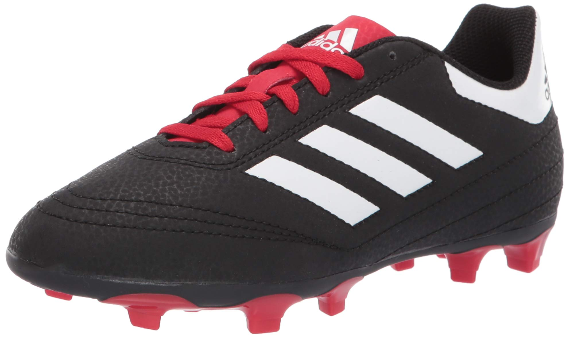 adidas Unisex Goletto VI Firm Ground, Black/White/Scarlet, 10.5K M US Little Kid
