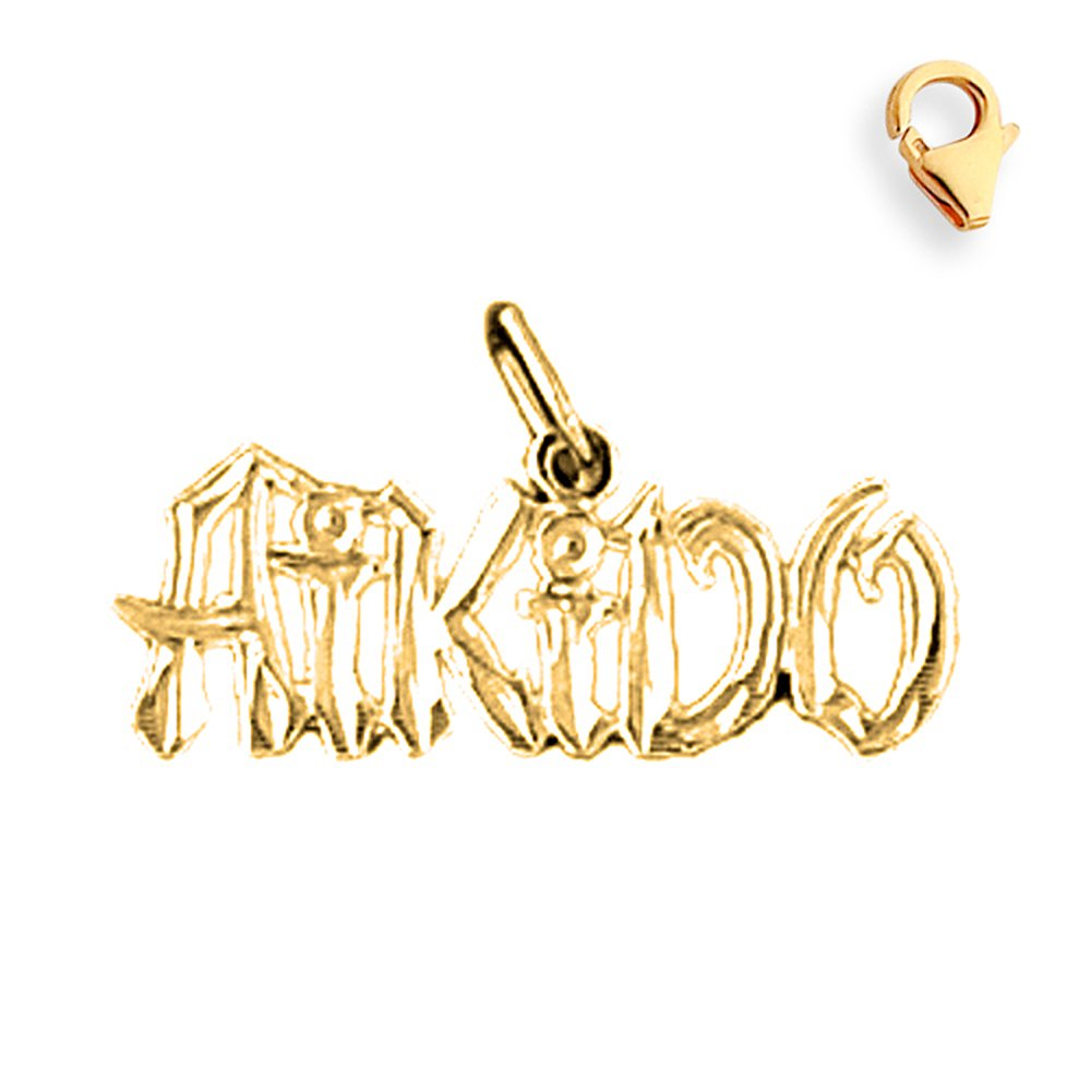 14K Yellow Gold Aikido Charm - 12mm