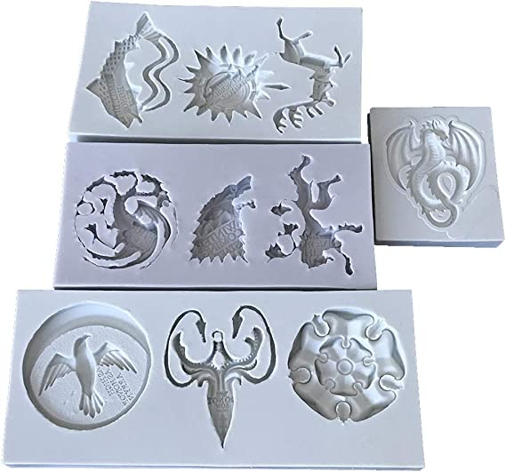 Taimot Cat Silicone Molds Resin Epoxy Molds Crystal Beading Jewelry DIY Cat Head Pendant Casting Mold Animal Resin Molds Hand Craft Resin Molds Cake Fondant Molds