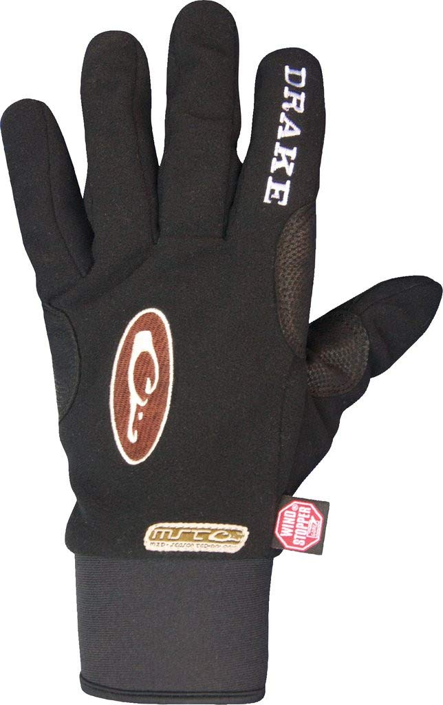 Drake Waterfowl Men's MST Windstopper Fleece Shooter's Glove Black (M) by Drake