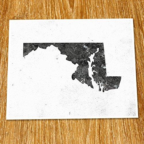 (Maryland Map Print (Unframed), Minimalist Map Art, Scandinavian Map Poster, Industrial, Loft, Hipster, Living Room Decor, 8x10