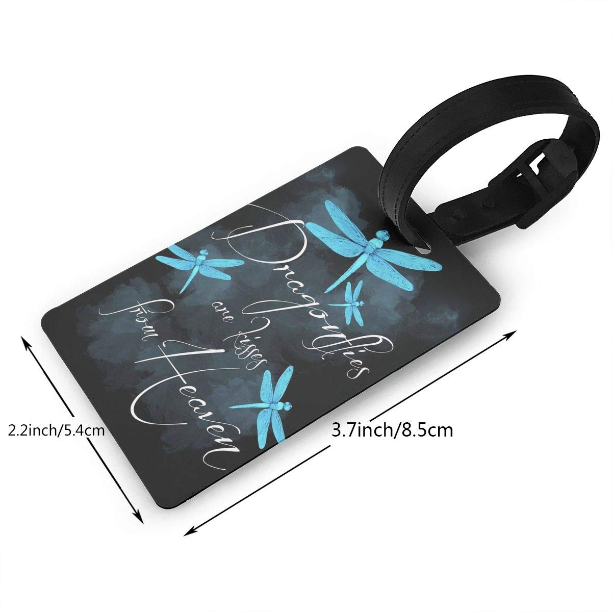 Dragonfly Pattern Cruise Luggage Tag For Suitcase Bag Accessories 2 Pack Luggage Tags
