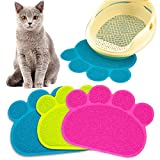 Cat Litter Mat Box Toilet Pad Puppy Kitty Dish Dinner Feeding Bowl Dog Sleeping Placemat Tray Tidy Easy Cleaning