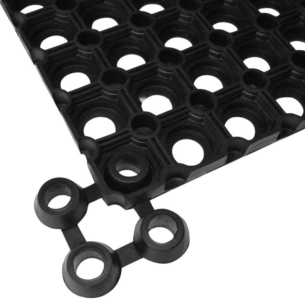 Verbinder f/ür Ringgummimatten 10 STK Gummi Connector Leicht zu reinigen Tidyard