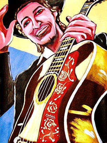 (BOB DYLAN PRINT POSTER guitar cd lp record gibson J-200 album vinyl Blonde on blonde nashville skyline subterranean homesick blue)