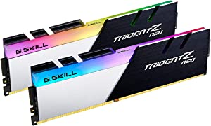G.Skill Trident Z Neo Series 32GB (2 x 16GB) 288-Pin SDRAM PC4-28800 DDR4 3600MHz CL16-19-19-39 1.35V Desktop Memory Model F4-3600C16D-32GTZNC