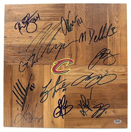Cleveland Cavaliers Cavs 2015-16 Team Autographed Signed Floorboard PAAS COA Lebron Kyrie Love (Floor Team Signed)