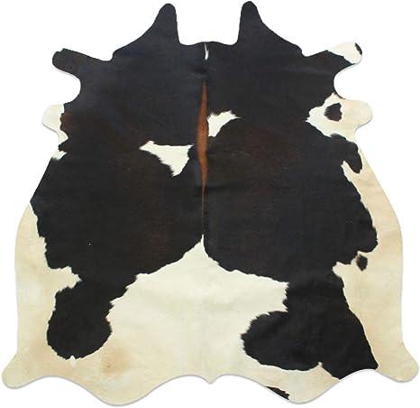 Natural Grey White Cow Skin Area Rug 5x5 ft Original Animal Skin Hair on Leather