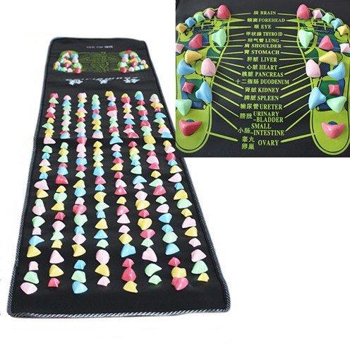 ZJchao Reflexology 1.7m x0.35m Walk Stone Foot Massage Leg Massager Mat Health Care