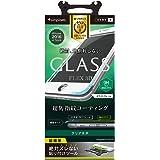 Simplism iPhone7 フィルム [FLEX 3D] 立体成型フレームガラスフィルム ホワイト  TR-GLIP164-F3CCWT