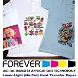 Forever Laser Light No-Cut Paper 11'' X 17''- 100 Sheets Heat Transfer Paper