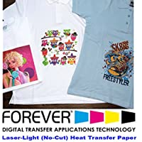 Forever Laser Light No-Cut Paper 8.5 X 11- 100 Sheets Heat Transfer Paper