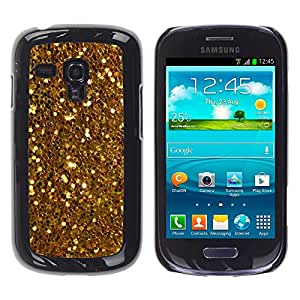 iKiki Tech / Estuche rígido - Shiny Glitter Yellow Coins Treasure - Samsung Galaxy S3 MINI NOT REGULAR! I8190 I8190N