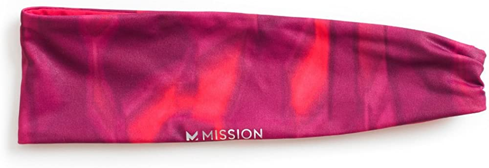 MISSION Unisex-Adult HydroActive MAX Cinched Reversible Headband
