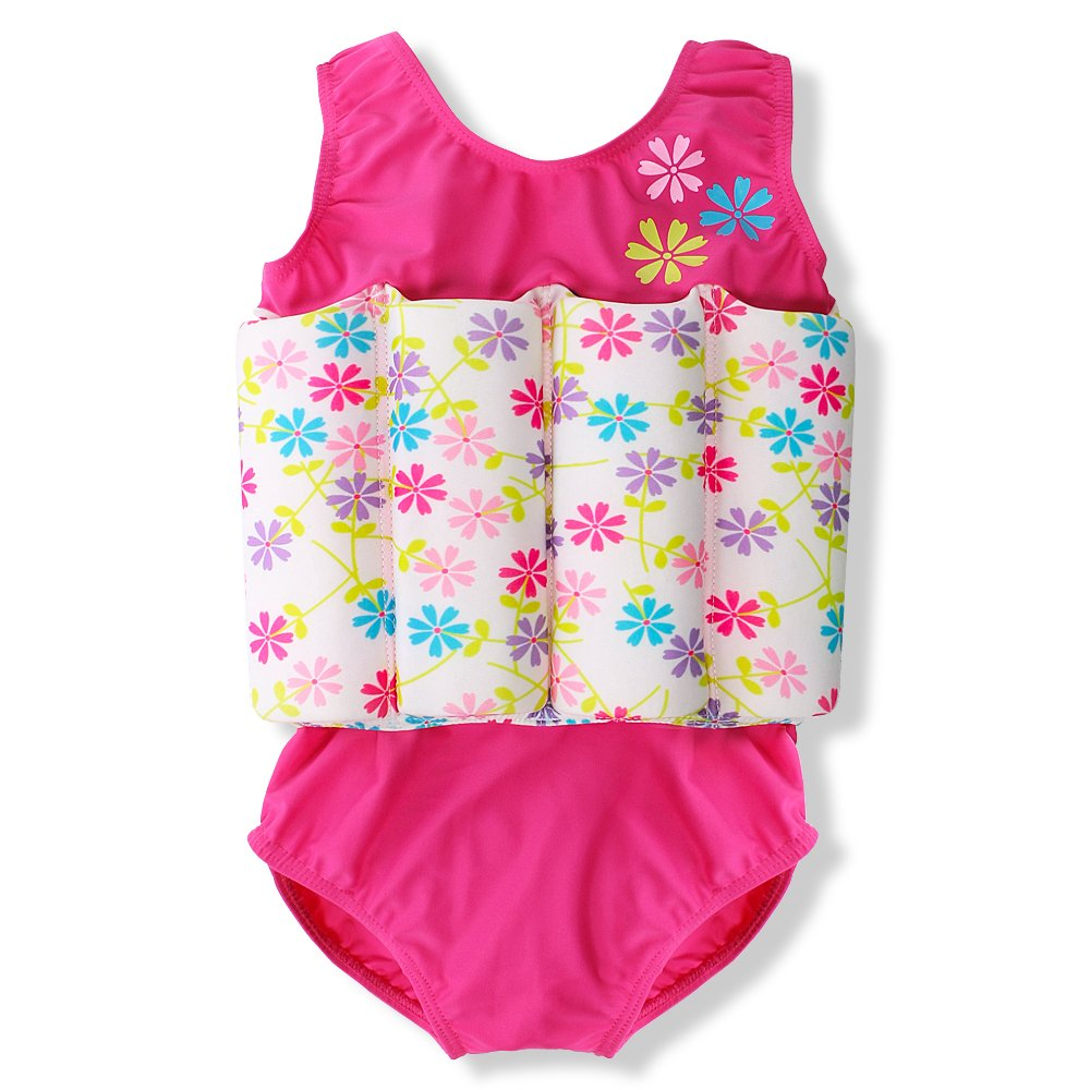 One-Piece Kids Baby Boy Girl Floating Buoyancy Swimsuit Swimwear Float Suit Floating Swim Trainer with Cute Shark Print
