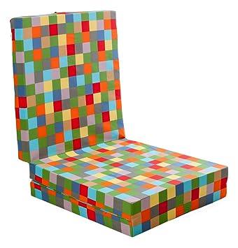 Verona Colchón plegable, cama para invitados, cuadros, multicolor: Amazon.es: Jardín