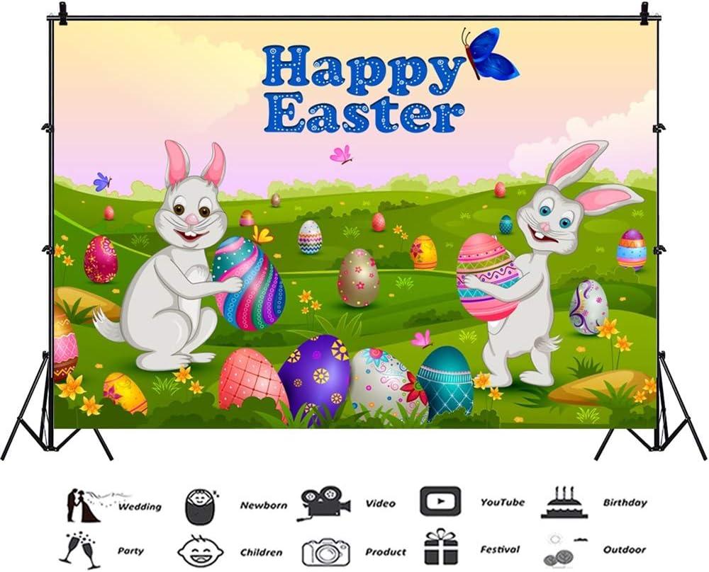 Amazon Com Laeacco Happy Easter 7x5ft Vinyl Photography