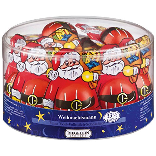 Riegelein Santa Claus 20 Pieces (150g) - milk chocolate on cardboard backing