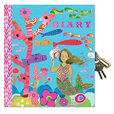 eeBoo Mermaid Diary with Lock and Key for Girls: Toys & Games