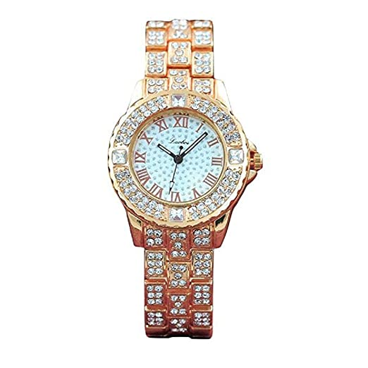 Scpink Reloj de Cuarzo de la muñeca del Vestido de Lujo de la Manera de los ...