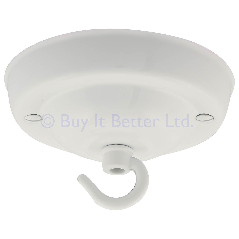Florón con gancho para lámpara de techo, 108 mm de diámetro: Amazon.es: Iluminación